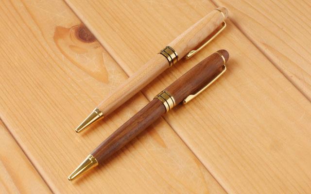 レーザー彫刻 木製ボールペン