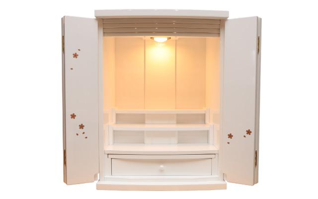 仏壇 ホワイト蒔絵 上置