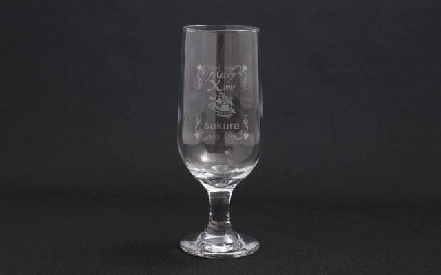 レーザー彫刻 グラス