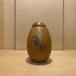 ペットミニ骨壺 たまご型 天然木